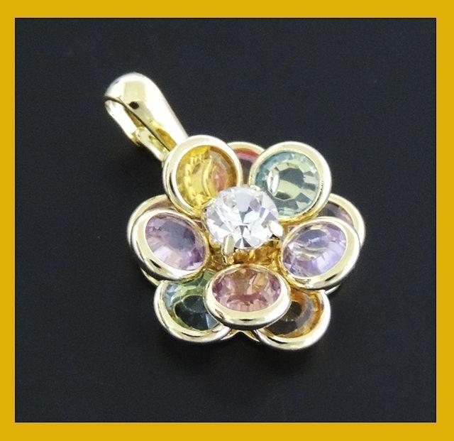 Pingente tipo flor colorido