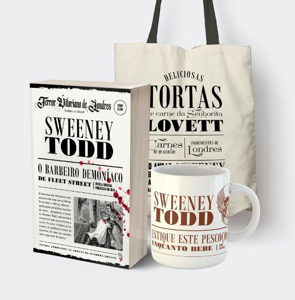 It's Christmas in London!! Sweeney Todd + Ecobag + Caneca vintage wine