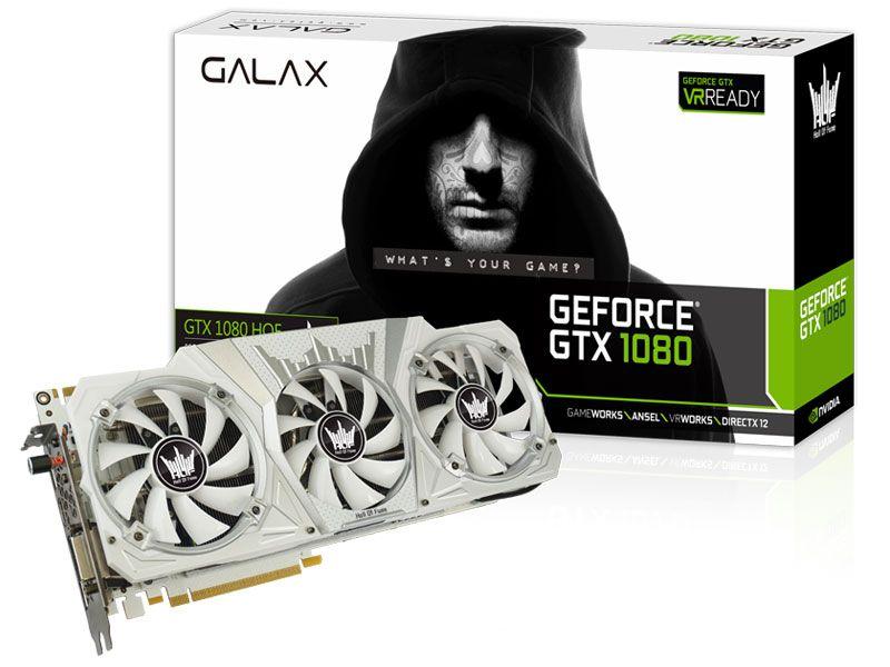 Geforce Galax Nvidia Gtx 1080 Hof 8Gb Ddr5X 256Bit 10.000Mhz