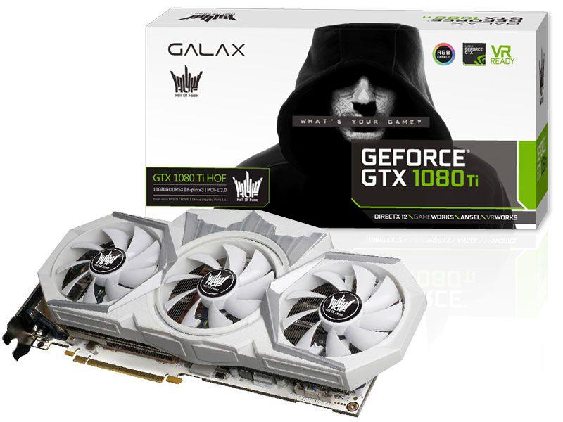 Geforce Galax Nvidia Gtx 1080 Ti Hof 11Gb Ddr5 352Bit 11.000Mhz
