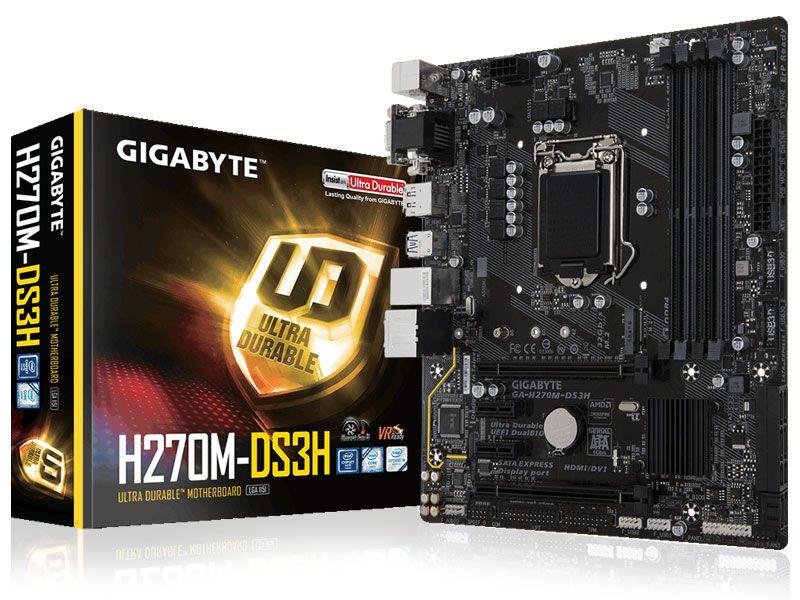 Placa Mãe Lga 1151 Intel Gigabyte Ga-H270M-Ds3H Matx Ddr4 Usb 3.1