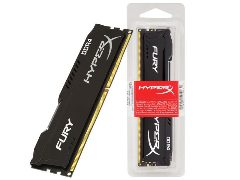 Memória Desktop Gamer Ddr4 Hyperx Fury HX424C15FB2/8 8Gb 2400Mhz Non-Ecc Black