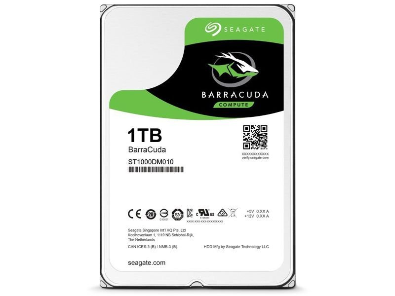 Hd seagate 1tb interno barracuda 7200 rpm 64 mb cache 3,5 sata 6gb