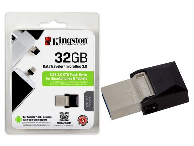 Pen Drive Smartphone Kingston Dt Micro 32Gb Usb 3.0 Otg