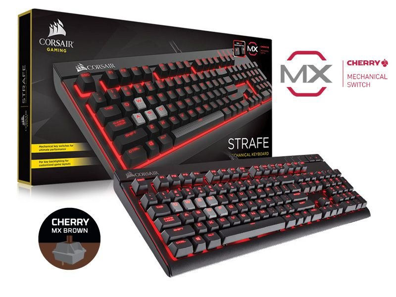 Teclado Gamer Corsair Strafe Retroiluminacão Teclas Cherry Mx Brown
