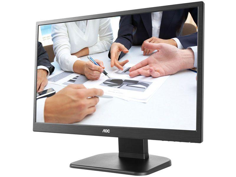 "Monitor Aoc 23,6"" Led 1920X1080 Full Hd Widescreen Vga Hdmi"
