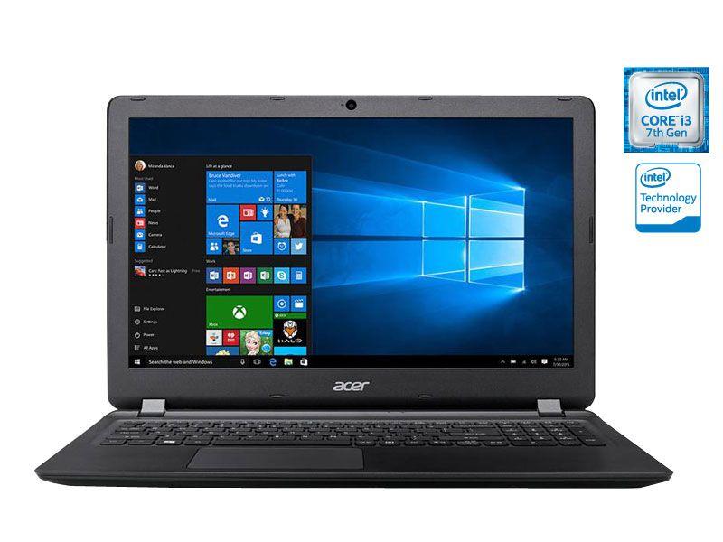 Notebook Acer ES1 I3 7100U Kabylake 4Gb 1Tb Win10 15.6 Led Hdmi Preto