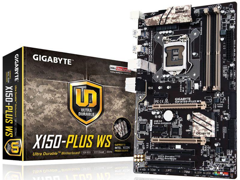 Placa Mãe Lga 1151 Intel Gigabyte Ga-X150-Plus Ws Atx Ddr4 Crossfire