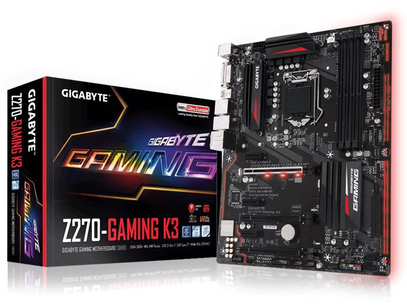 Placa mãe socket 1151 intel gigabyte ga z270 gaming k3 ddr4 usb 3.1