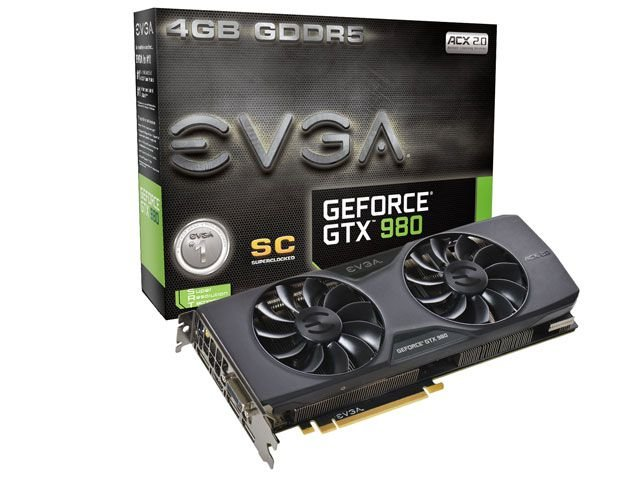 Geforce Evga Gtx 980 Superclocked Acx 2.0 4Gb Ddr5 256 Bit 7010Mhz