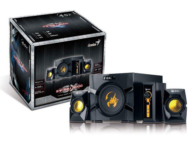Caixa De Som Gaming Genius Sw-G2.1 3000 2.1Ch 70 Rms Gaming