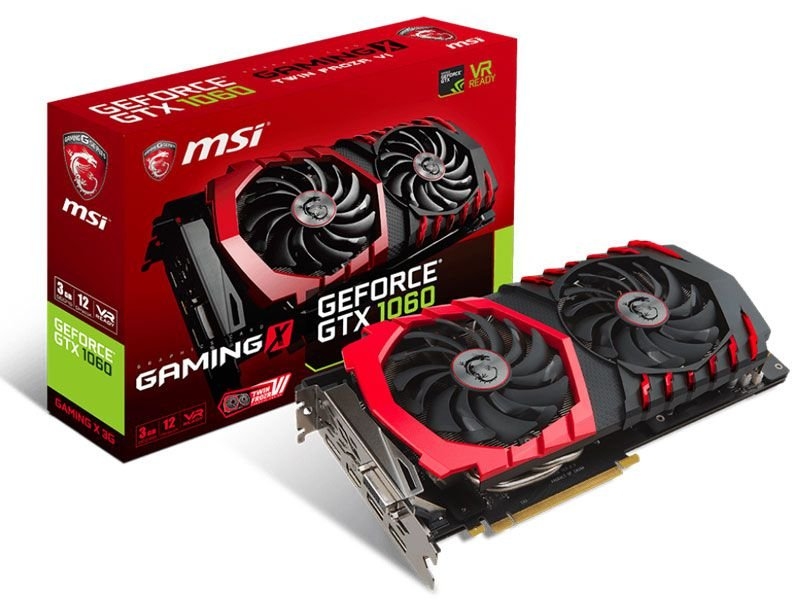 Geforce Msi Gtx 1060 Gaming X 3Gb Ddr5 192Bit 8008Mhz
