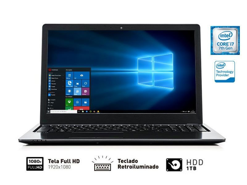 Notebook Vaio Fit 15S I7-7500U 8Gb 1Tb 15.6 Full hd W10