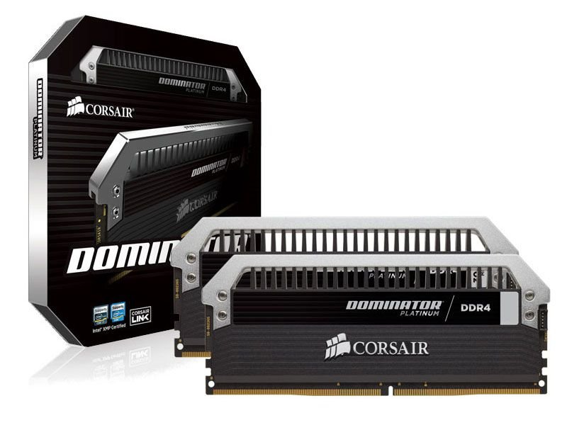 Memória Desktop Gamer Ddr4 Corsair 8Gb Kit (2X4Gb) 3200Mhz Platinum