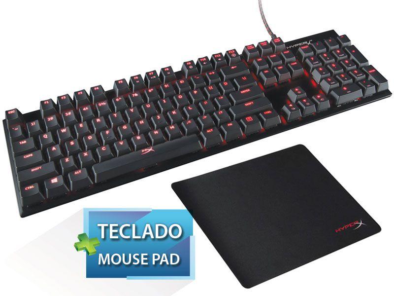 Teclado Gamer Hyperx  Mecânico Alloy Fps Cherry Mx + Mouse Pad
