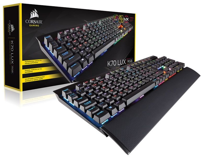 Teclado Gamer Corsair K70 Lux Rgb Cherry Mx Red Br