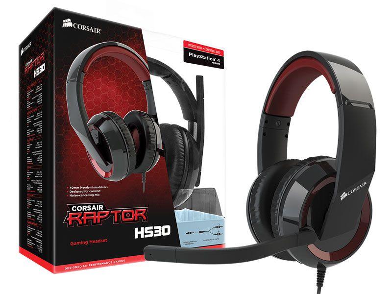 Headset Gamer CA-9011121-NA-Y Corsair Raptor Hs30 2.0 Canais Preto