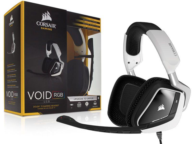Headset Gamer Corsair Void Rgb Dolby 7.1 Usb Branco