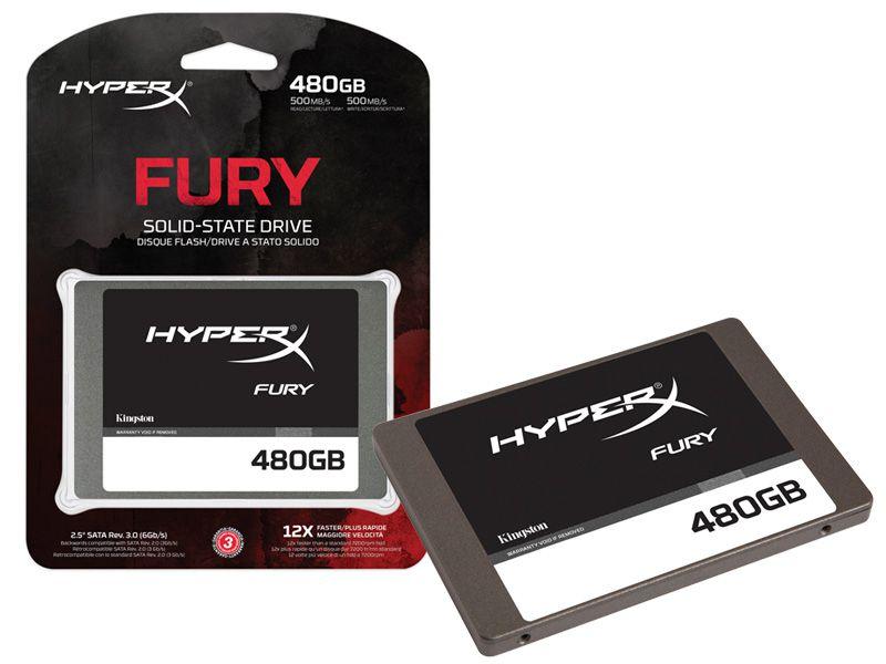 "Ssd Gamer Hyperx Fury 480Gb 2.5"" Sata III Blister"