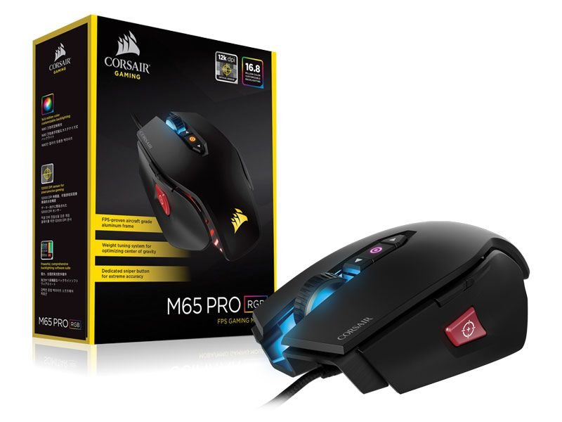 Mouse Gamer Corsair Vengeance M65 Pro Rgb 12000 Dpi Preto