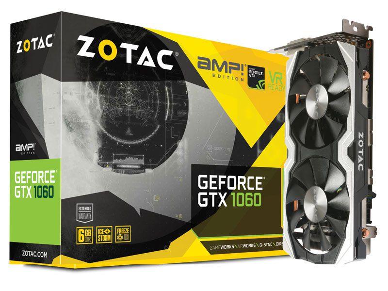 Geforce Zotac Nvidia Gtx 1060 Amp 6Gb Ddr5 192Bit 8008Mhz