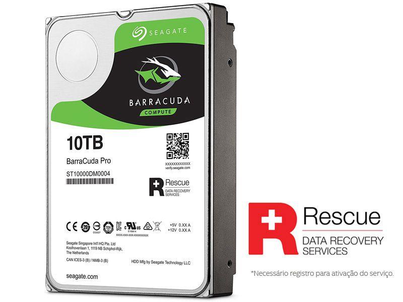 Hd 3,5 Desktop Seagate St10000Dm0004 Barracuda Pro 10 Tera 7200Rpm 256Mb Cache