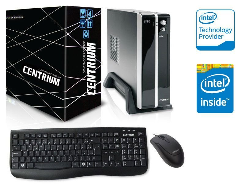 Computador Centrium Thintop 3060 Intel Dual Core J3060 1.6Ghz 4Gb 500Gb W10