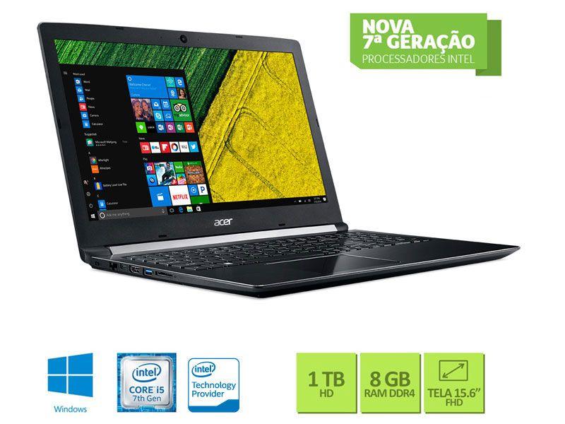 Notebook Acer Nxgqdal004 A515-51G-58Vh Core I5 7200U 8Gb 1Tb W10 15.6 Led