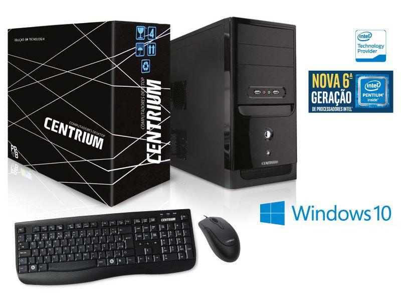 Computador Centrium Thintop 4400 Intel Pentium G4400 3.3Ghz 4Gb Ddr4 500Gb W10