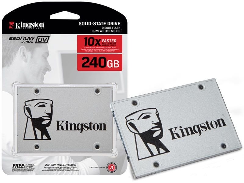 "Ssd Kingston Suv400S37/240G Uv400 240Gb 2.5"" Sata Iii Blister"