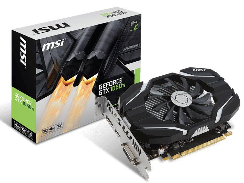 Geforce Msi Nvidia 912-V809-2691 Gtx 1050Ti Oc 4Gb Ddr5 128Bit 7008Mhz