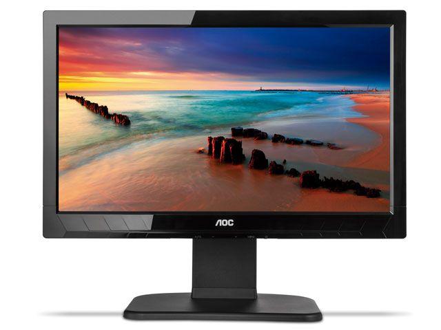 Monitor Corporativo Aoc E2023Pwd 19,5 Led Com Ajuste De Altura Pivo 90G Hd Widescreen