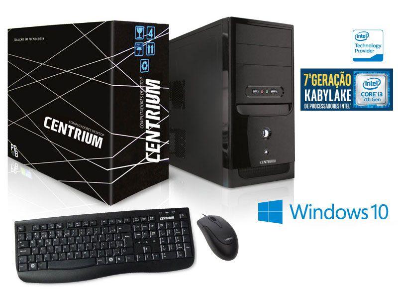 Computador Centrium Fasttop Intel Core I3-7100 3.9Ghz 4Gb Ddr4 500Gb W10Pro