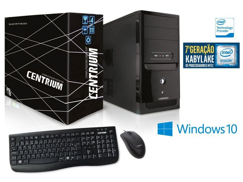 Computador Centrium Thintop Intel Dual Core G3930 2.9Ghz 4Gb Ddr4 500Gb W10