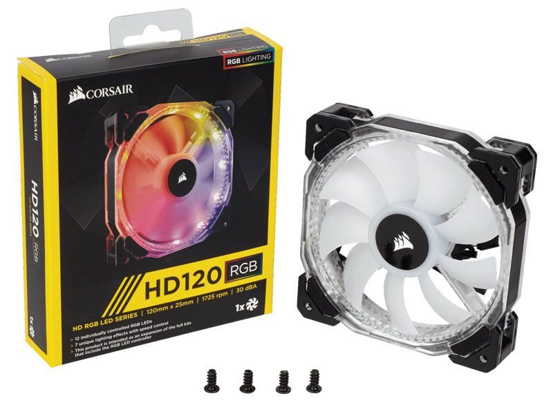 Cooler Para Gabinete Corsair Co-9050065-Ww Hd120 High Performance Rgb Led 120Mm