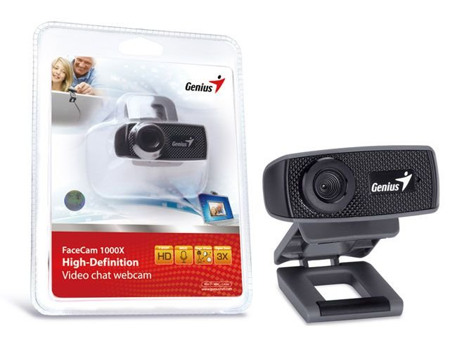 Webcam Genius 32200223101 Facecam 1000X V2 Hd 720P Usb 2.0 Zoom 3X