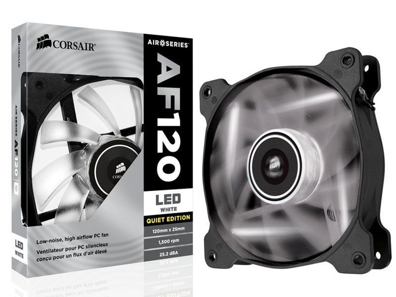 Cooler fan corsair af120 120 mm quiet edition Co-9050015-Wled led branco
