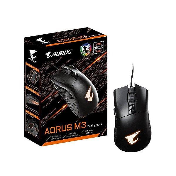 Mouse óptico USB Gamer Aorus M3 Preto Gigabyte