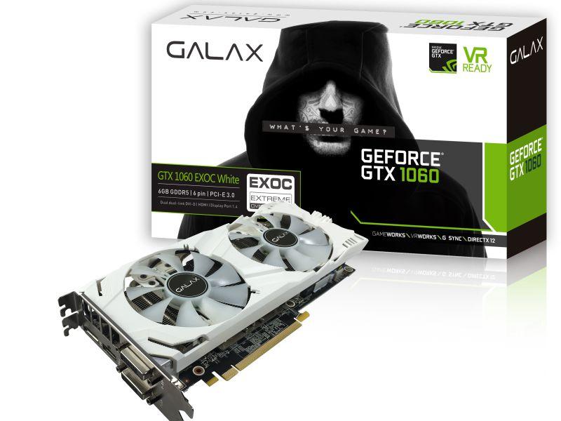 Geforce Galax 60Nrh7Dvm3Vw Gtx 1060 White 6Gb Ddr5 192Bit 8008Mhz