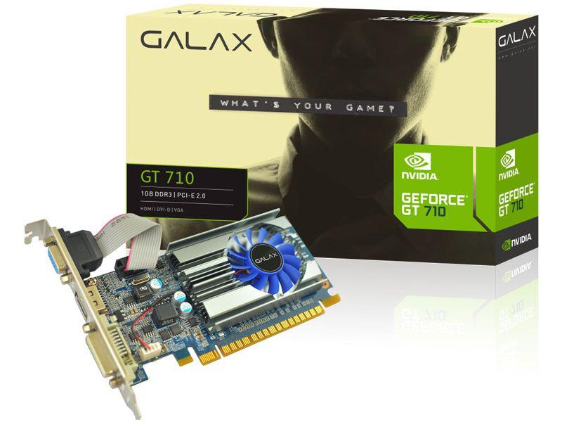 Placa de vídeo nvidia galax 71Ggh4Hxj4Fn gt 710 1gb ddr3 64Bits 1600Mhz