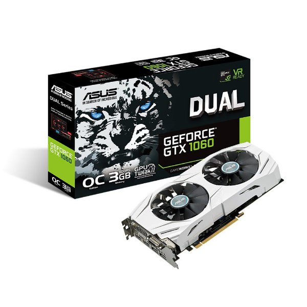 Placa de vídeo nvidia asus gtx 1060 3gb oc dual fan 90YV09X3-M0NA00 gddr5 192bit 8008mhz