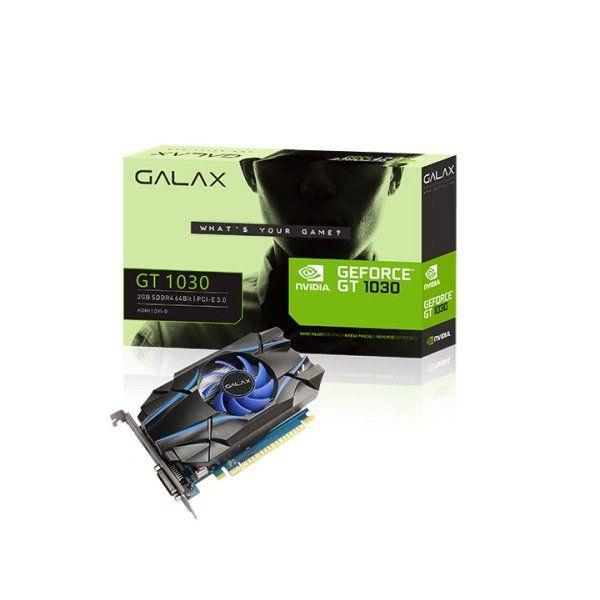 Placa de vídeo nvidia galax gt 1030 2gb ddr4 64bit 30npk4hvq4bg