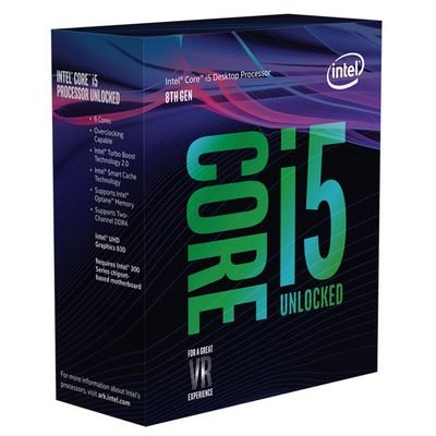 Processador intel BX80684I58600K hexa core i5-8600k 3.6ghz 9mb cache 8°G S/ cooler