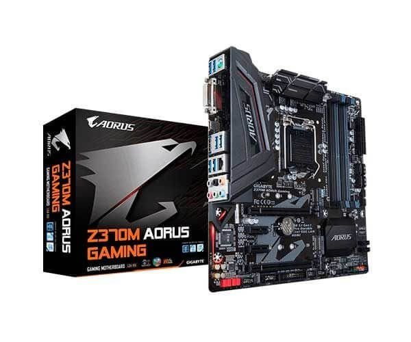 Placa mãe socket 1151 intel gigabyte z370m aorus gaming ddr4 coffe lake m2