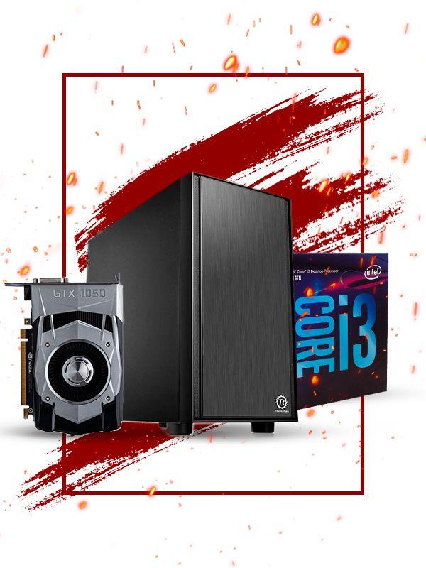 Pc Gamer Intel, i3 8100, Gtx 1050 2gb, 4gb de ram, ssd 120gb, fonte 400W