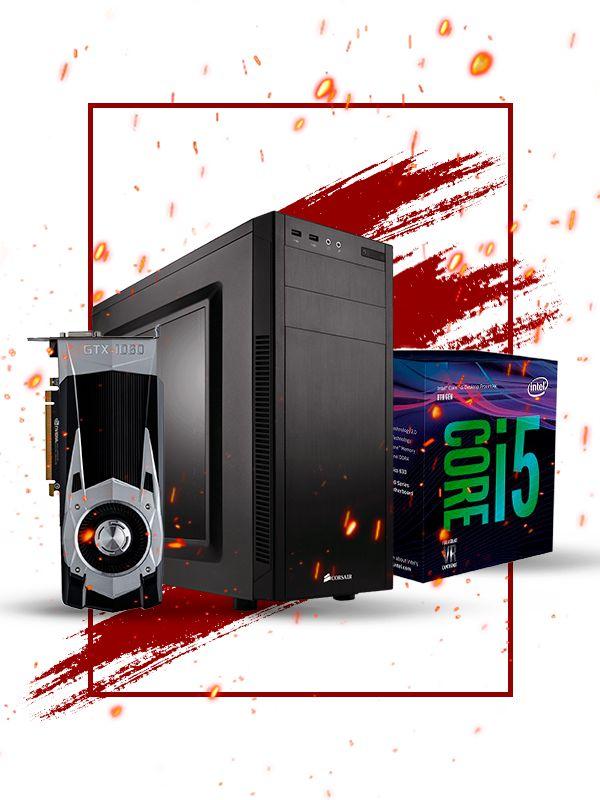 Pc Gamer Intel, i5 8400, Gtx 1060 6gb, 16gb de ram, 1tb hd, ssd 120gb, fonte 500w