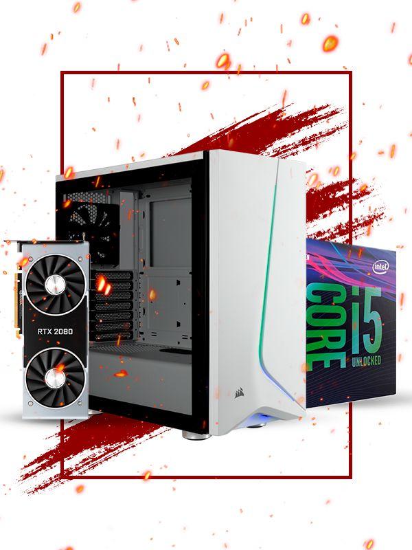 Pc Gamer Intel, i5 9600k, RTX 2080 8gb, 16gb de ram, 1tb hd, ssd 480gb, fonte 700w