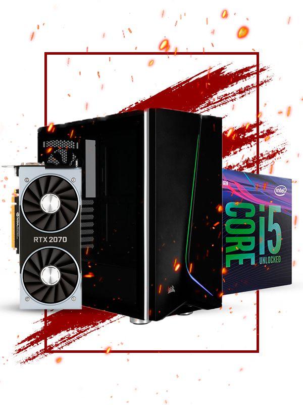 Pc Gamer Intel, i5 9600k, RTX 2070 8gb, 16gb de ram, 1tb hd, ssd 120gb, fonte 700w