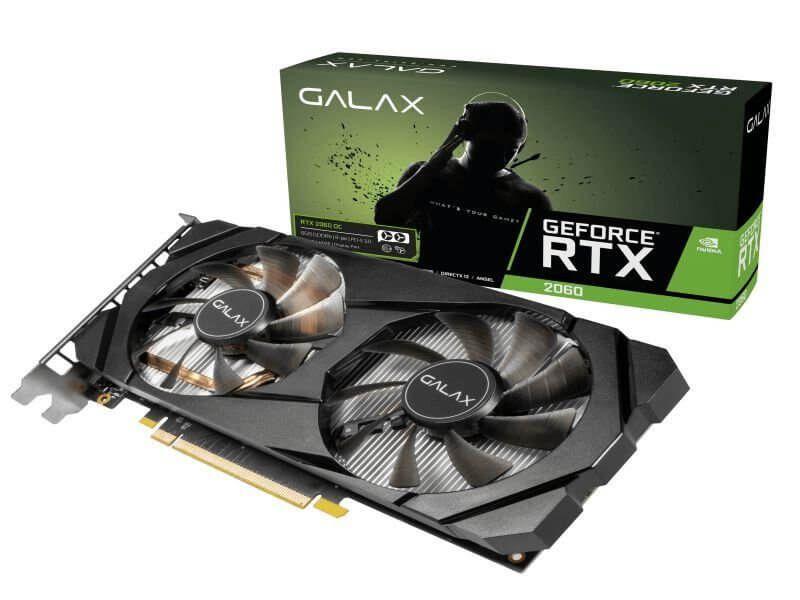 Placa de vídeo nvidia Galax RTX 2060 1-Click OC 6gb gddr6 192 bits, 26NRL7HPX7OC
