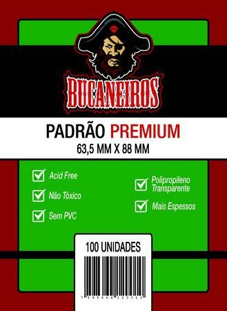 Sleeves Padrão Premium (63,5x88) - Bucaneiros